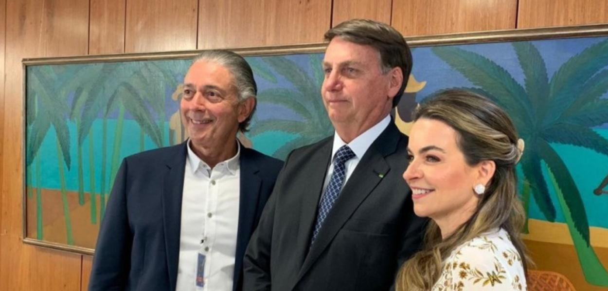 Afrânio Barreira, Jair Bolsonaro e Daniela Barreira