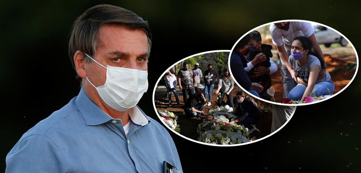 Jair Bolsonaro e enterro de pessoas mortas por covid-19