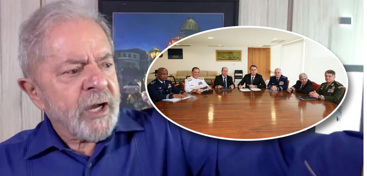 Lula, Bolsonaro com generais