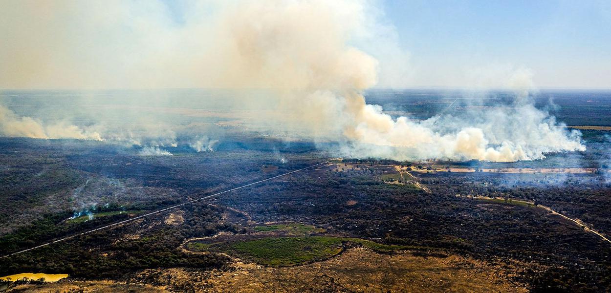 Ação humana provocou incêndio no Mato Grosso