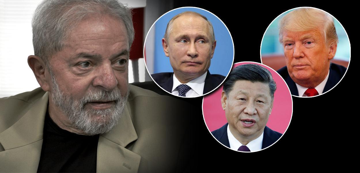 Lula, Vladimir Putin, Xi Jinping e Donald Trump
