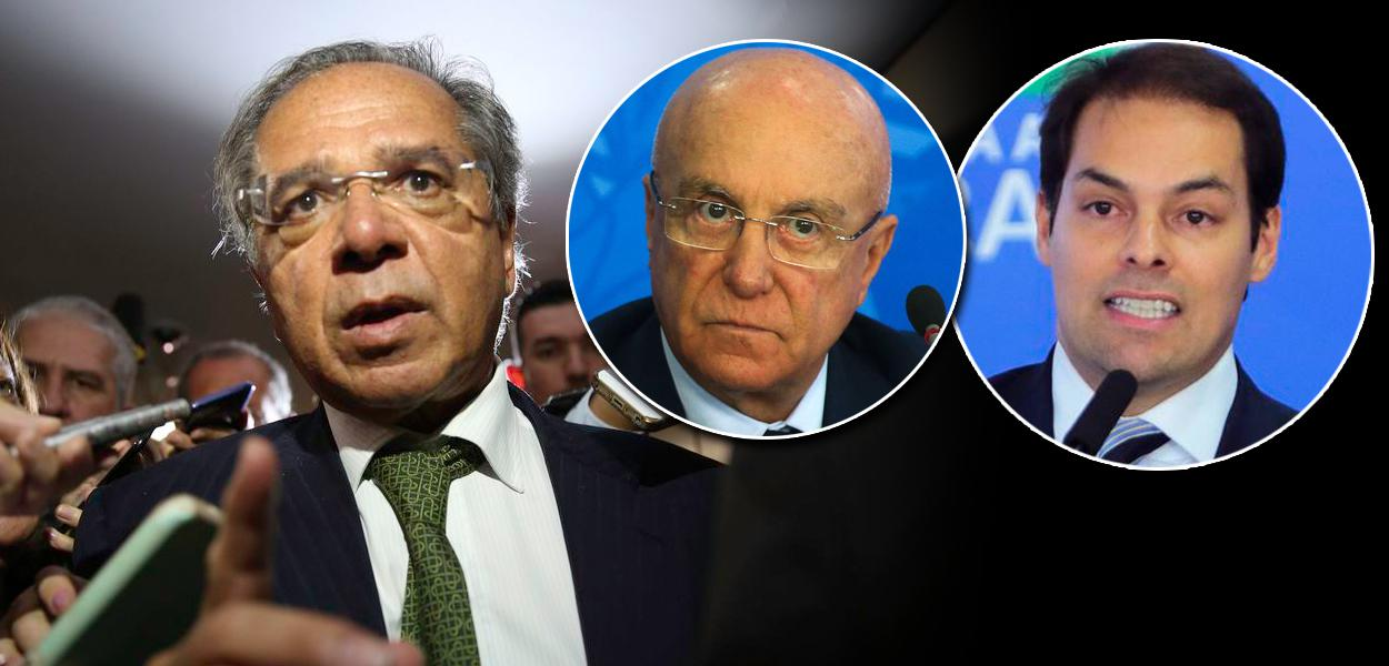 Paulo Guedes, Salim Mattar e Paulo Uebel