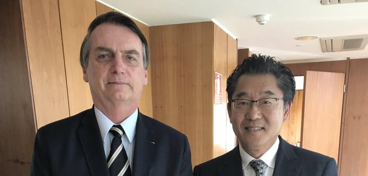 Jair Bolsonaro e Winston Ling