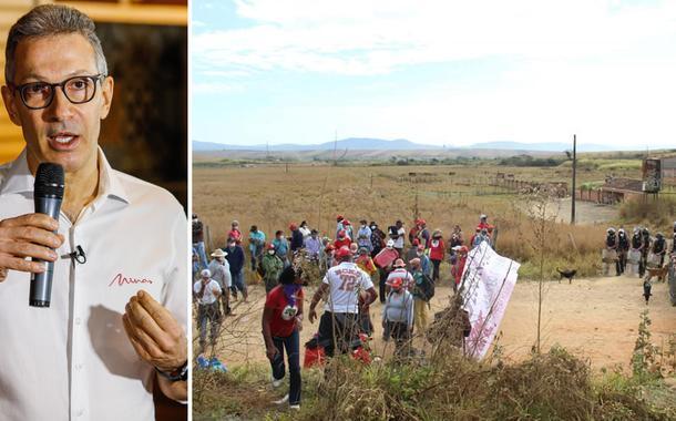Romeu Zema; polícia avança sobre o acampamento Quilombo Campo Grande