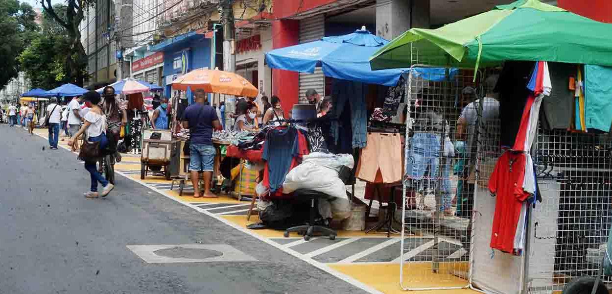 Salvador – Ambulantes ganham novos espaços na Avenida Sete de Setembro 12 de agosto de 2020