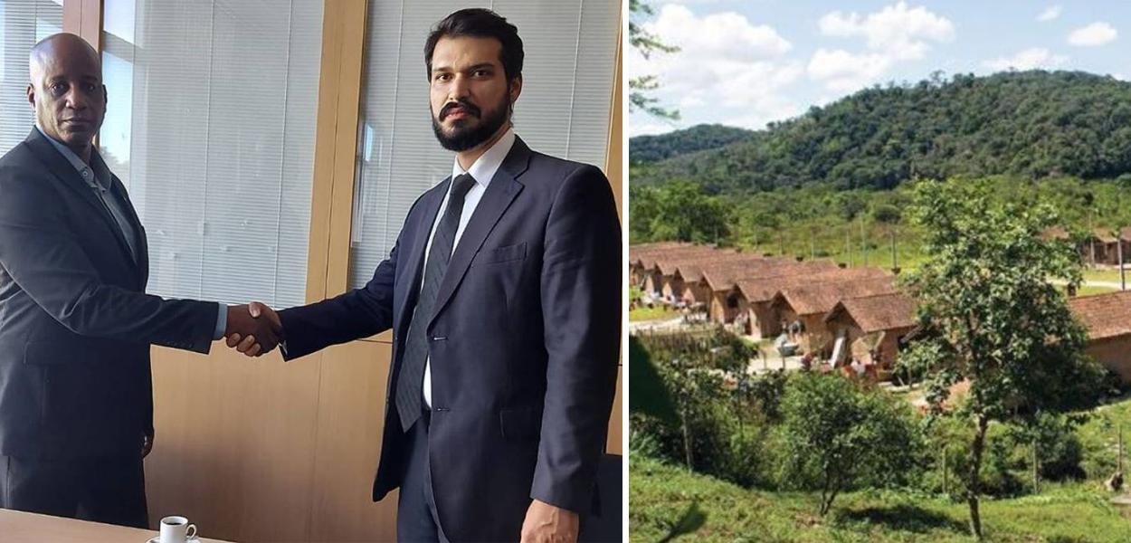 Sérgio Camargo, presidente da Fundação Palmares, e Victor Hugo Diogo Barboza