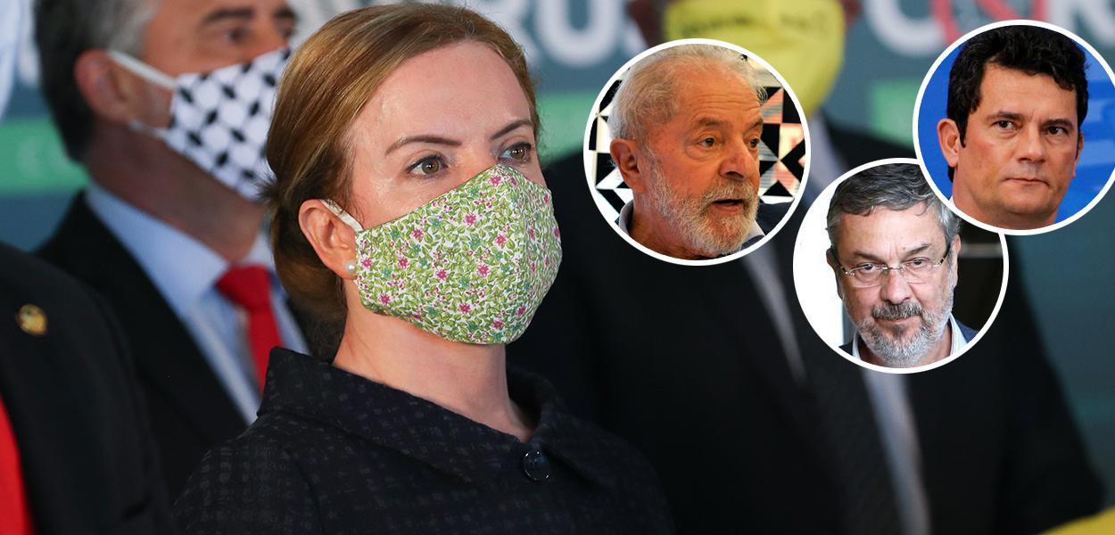 Gleisi Hoffmann, Lula, Palocci e Sérgio Moro