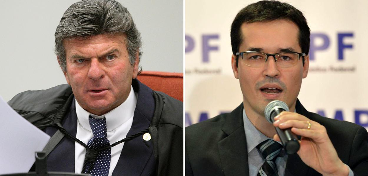 Ministro do STF Luiz Fux e Deltan Dallagnol