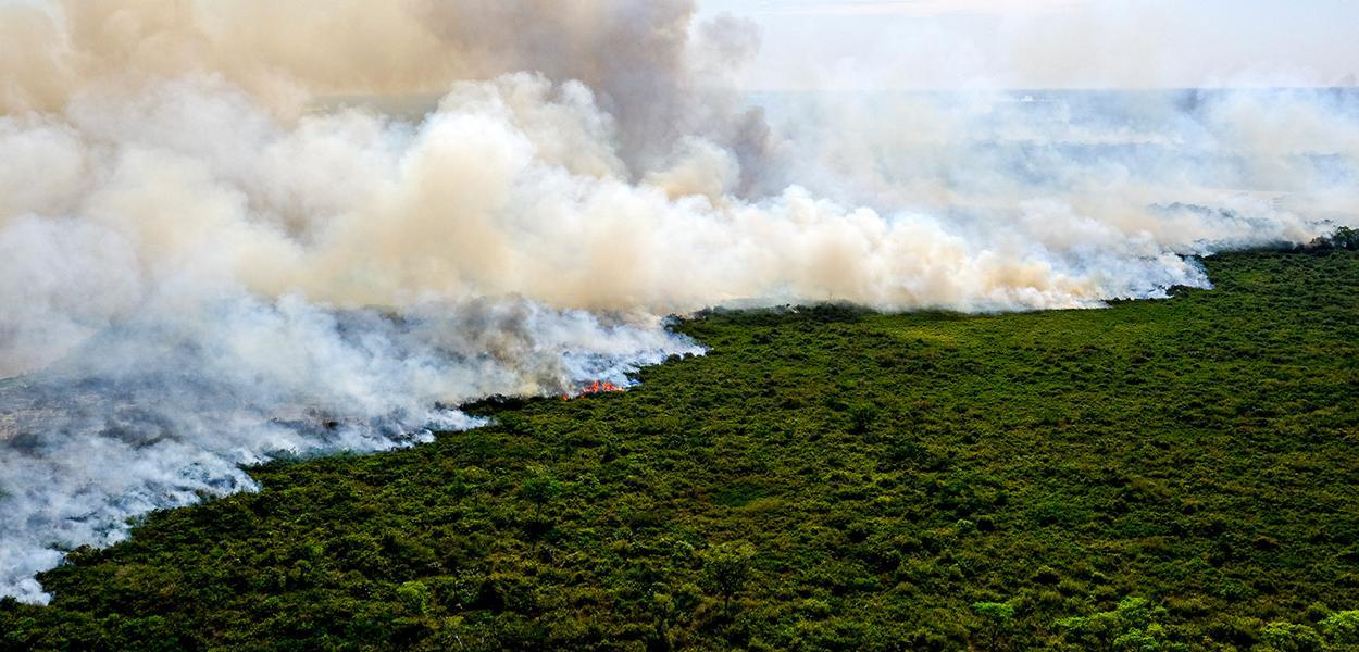 Lançamento da Operação Pantanal 2 para combate ao incêndio na região 17 de agosto de 2020