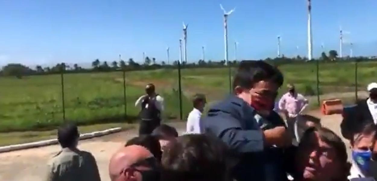 Jair Bolsonaro em campanha antecipada em Sergipe