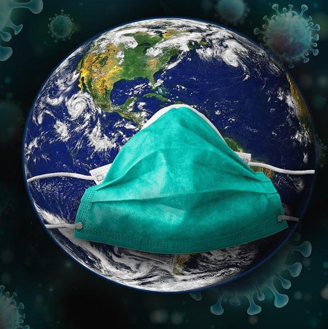 Terra com máscara