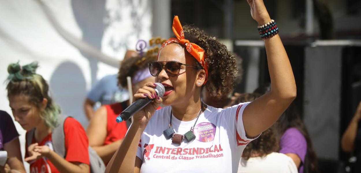 Protesto da intersindical em Campinas