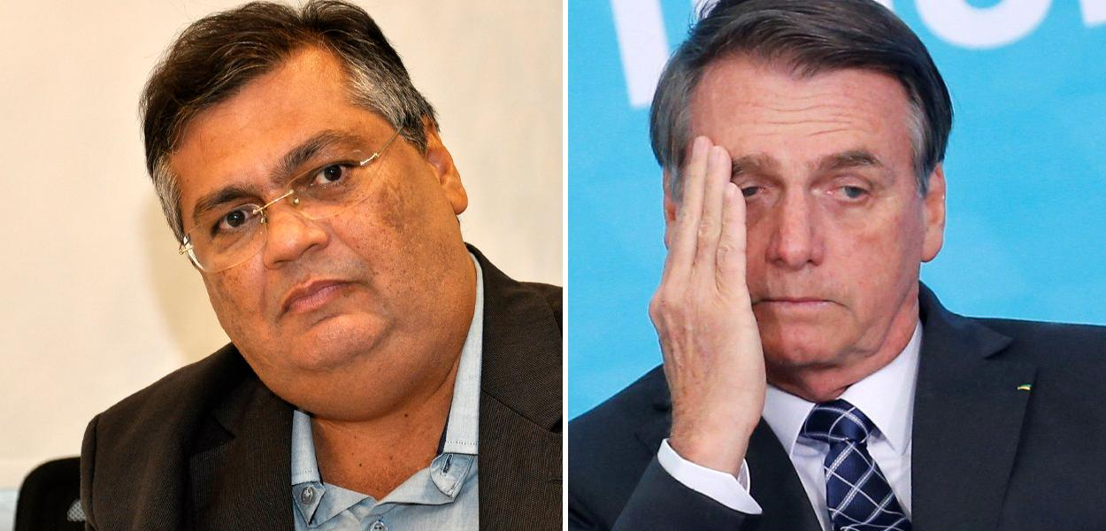 Flávio Dino e Jair Bolsonaro