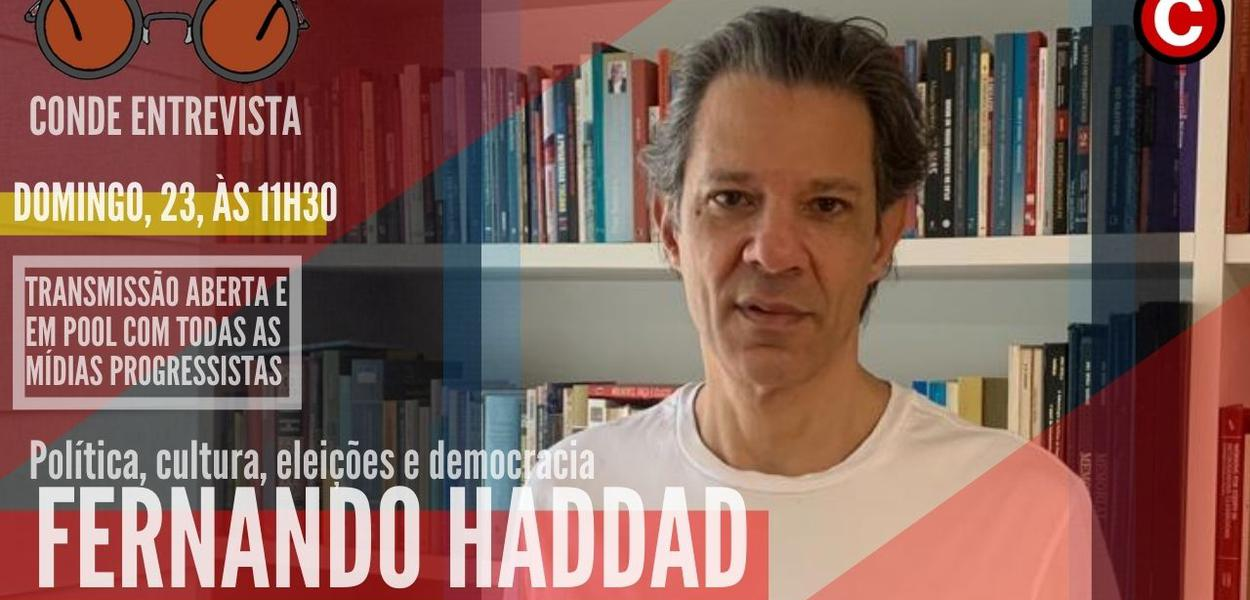 Fernando Haddad dá entrevista a Conde