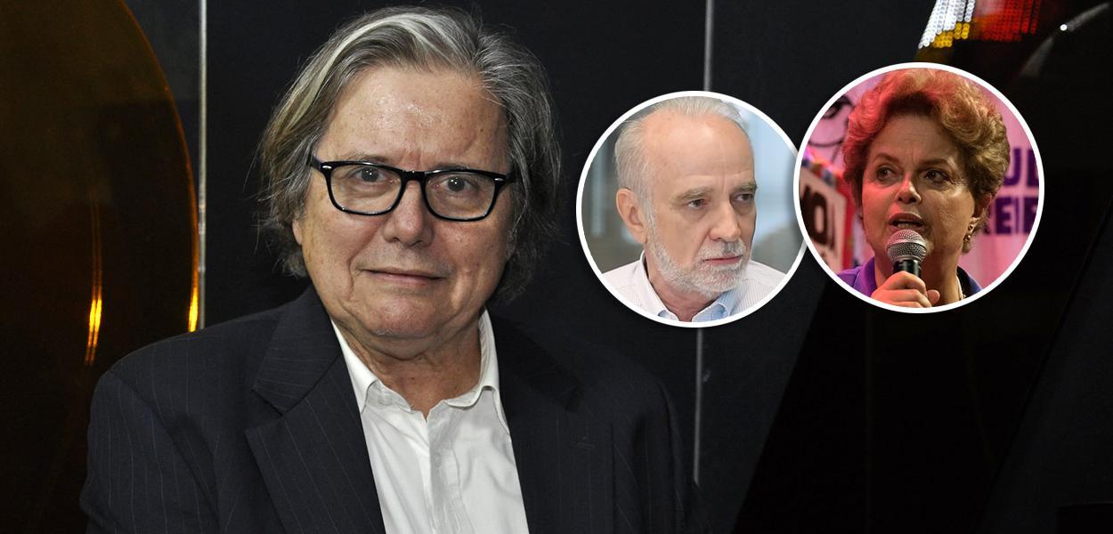 Paulo Moreira Leite, André Lara Resende e Dilma Rousseff