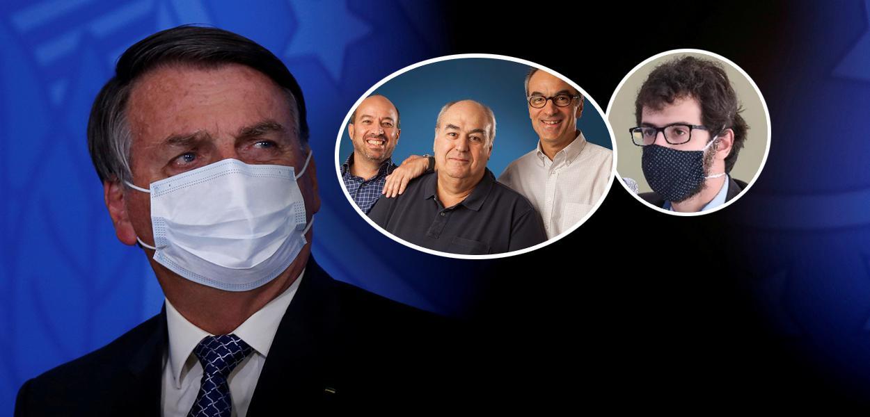 Jair Bolsonaro, irmãos Marinho e Daniel Gullino