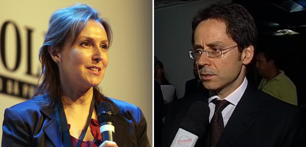 Maria Cristina Frias e o irmão, empresário Luis Frias, da Folha