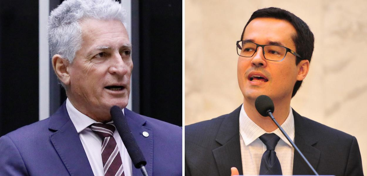 Rogério Correia e Deltan Dallagnol
