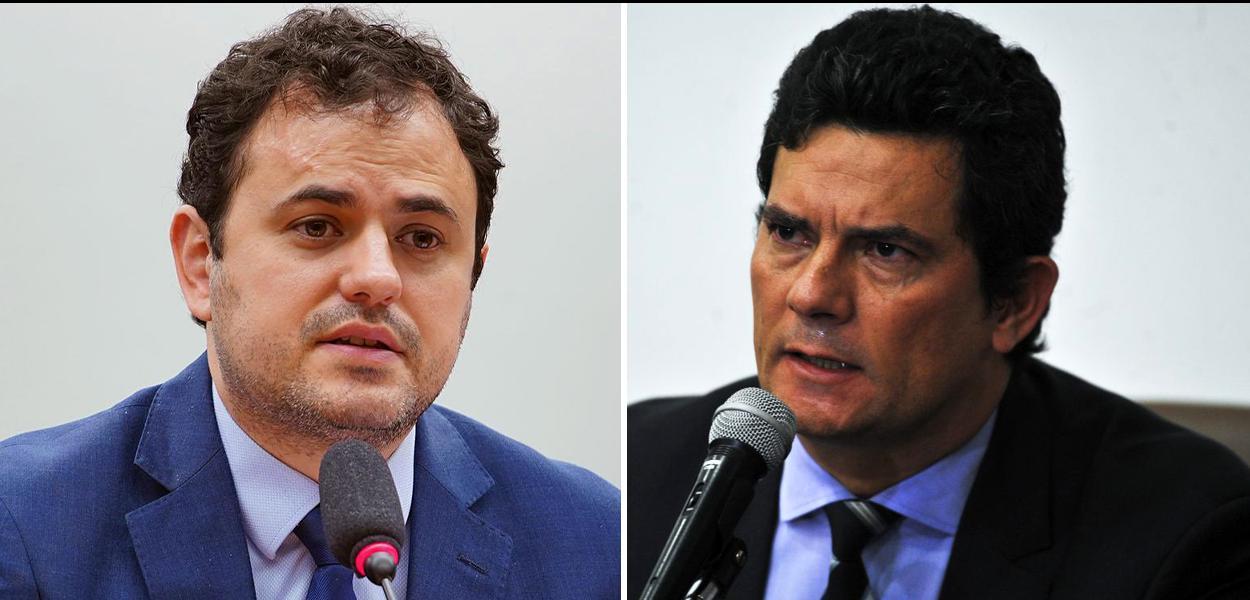 Glauber Braga e Sergio Moro.