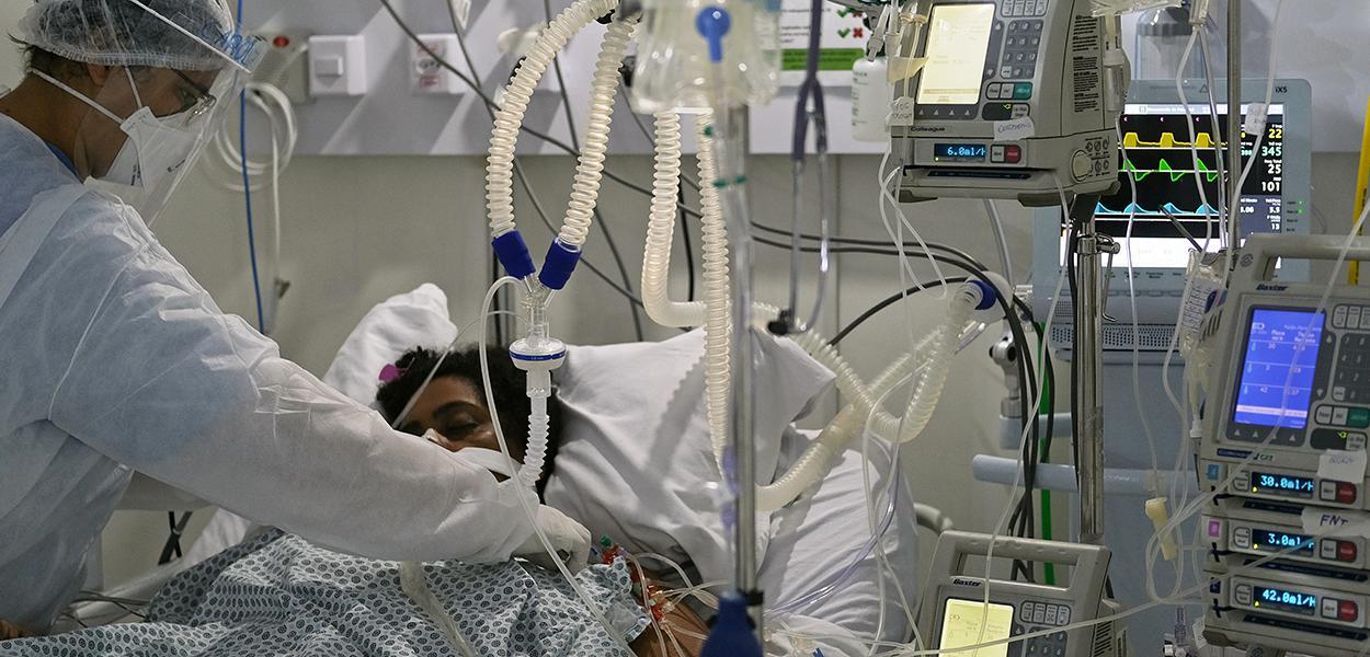 Paciente com Covid-19 em hospital no Rio de Janeiro (RJ) 02/07/2020