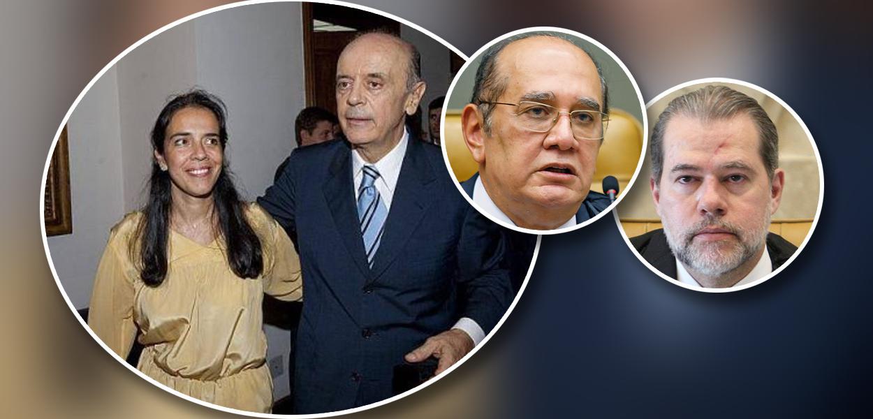 José Serra e sua filha Verônica Serra, Gilmar Mendes e Dias Toffoli