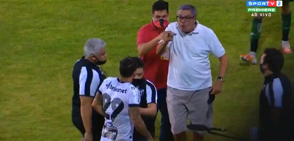 Presidente do Vitória ameaça jogador do Ceará