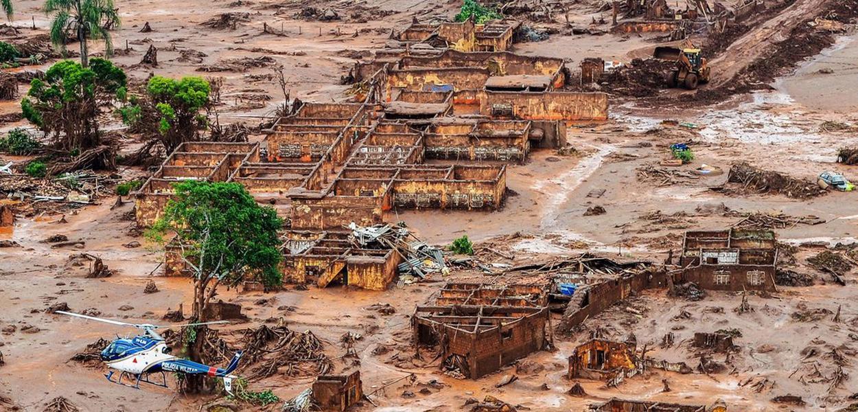Danos causados pelo rompimento da barragem de Brumadinho (MG)