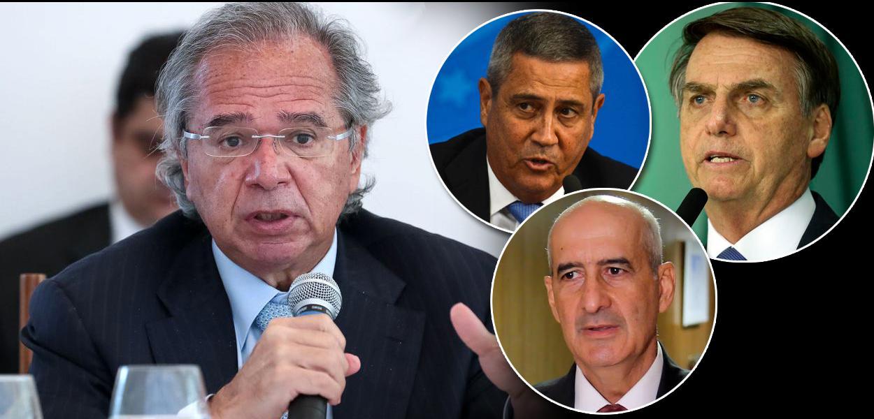 Paulo Guedes, Luiz Eduardo Ramos, Walter Braga Netto e Jair Bolsonaro