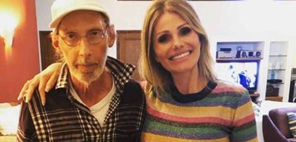 Arnaldo Saccomani e a filha Thais