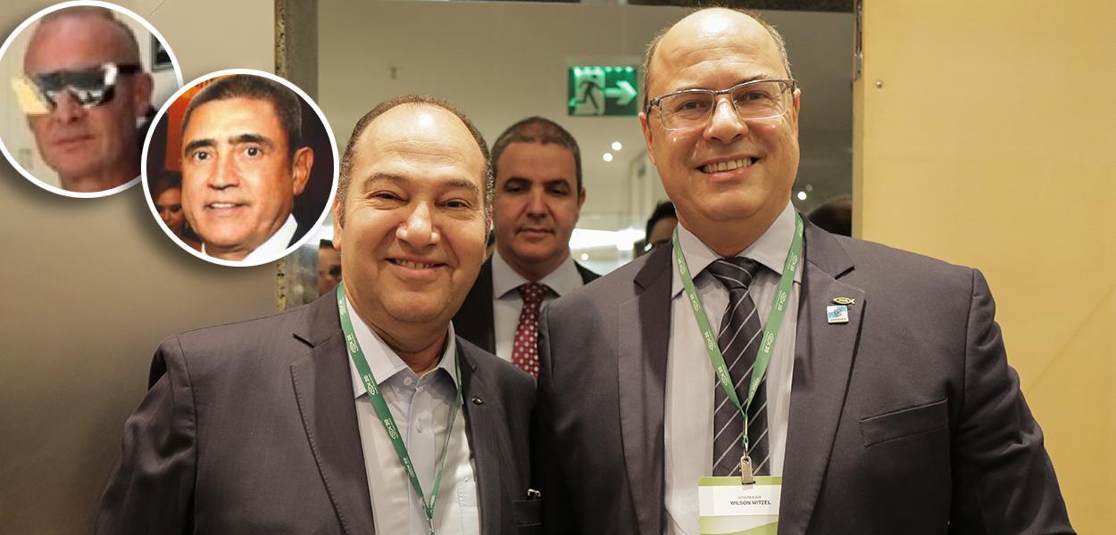 José Carlos de Melo, Mário Peixoto e pastor Everaldo com Witzel