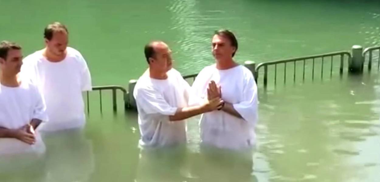 Pastor Everaldo batiza Bolsonaro