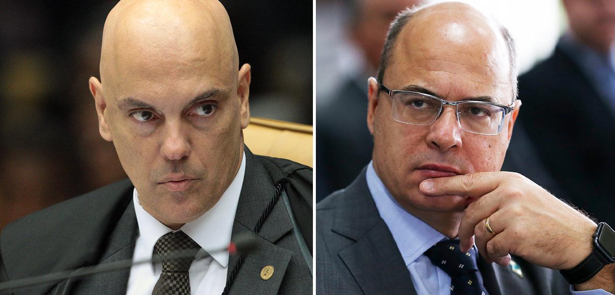 Alexandre de Moraes e Wilson Witzel
