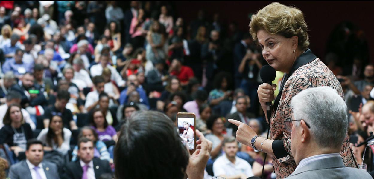 Brasília- DF. 04-09-2019- Seminário pela Soberania Nacional e Popular, com a presença de Dilma Roussef, Fernando Haddad e Guilherme Boullos.