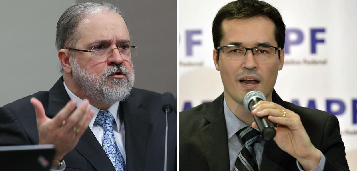 Augusto Aras e Deltan Dallagnol