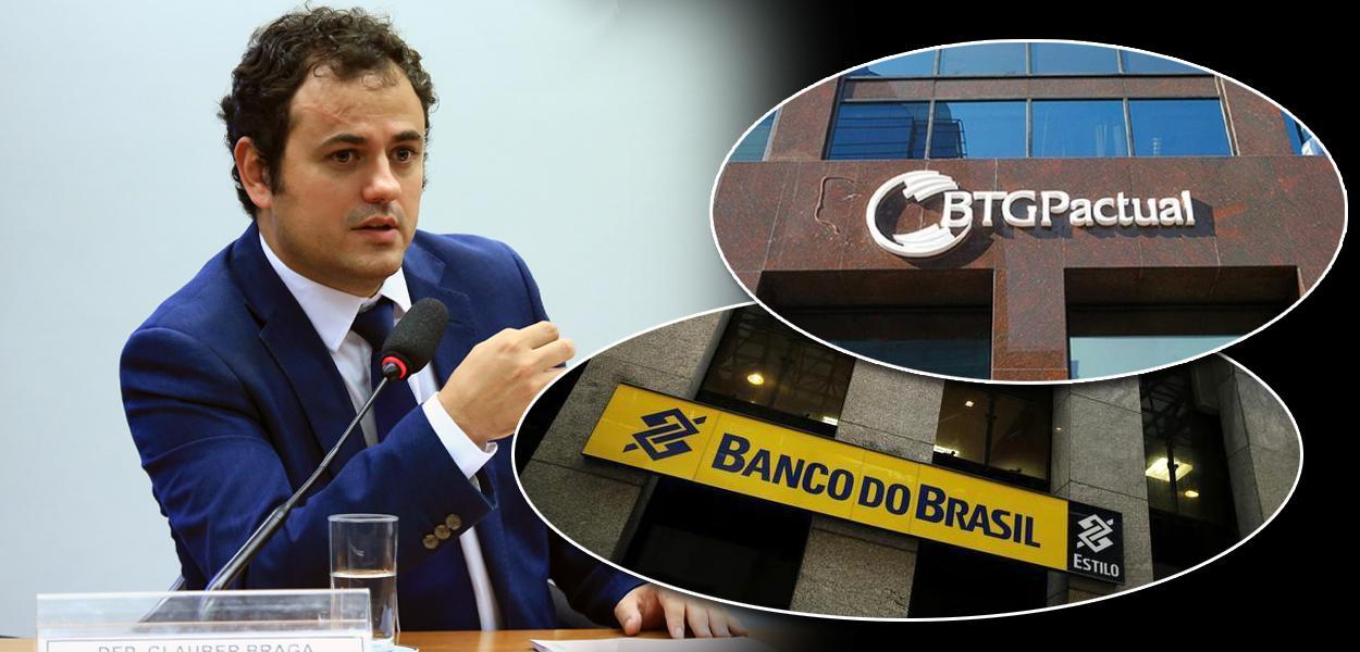 Glauber Braga, BTG Pactual e Banco do Brasil