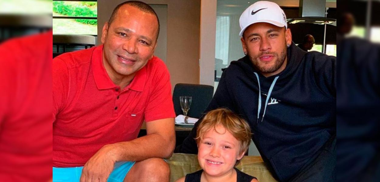 Pai, Davi Lucca (filho) e Neymar
