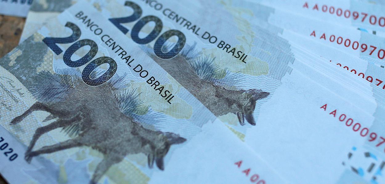 A nova cédula do Banco Central, de 200 reais, é apresentada oficialmente nesta quarta-feira. 02/09/2020.
