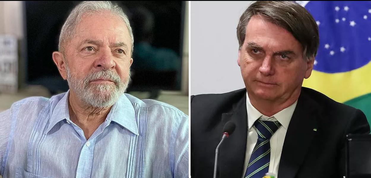 Lula e Bolsonaro.