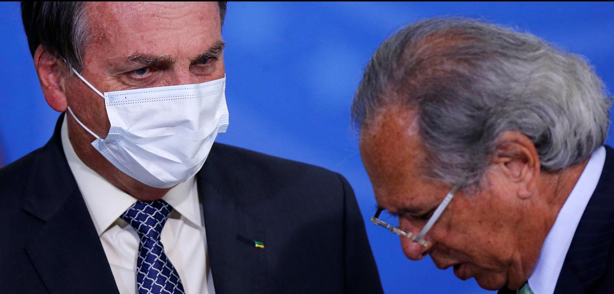 Bolsonaro e Guedes participam de evento em Brasília 19/08/2020