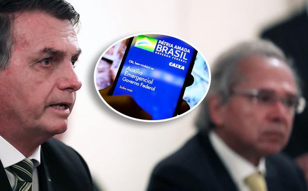 Jair Bolsonaro com Paulo Guedes