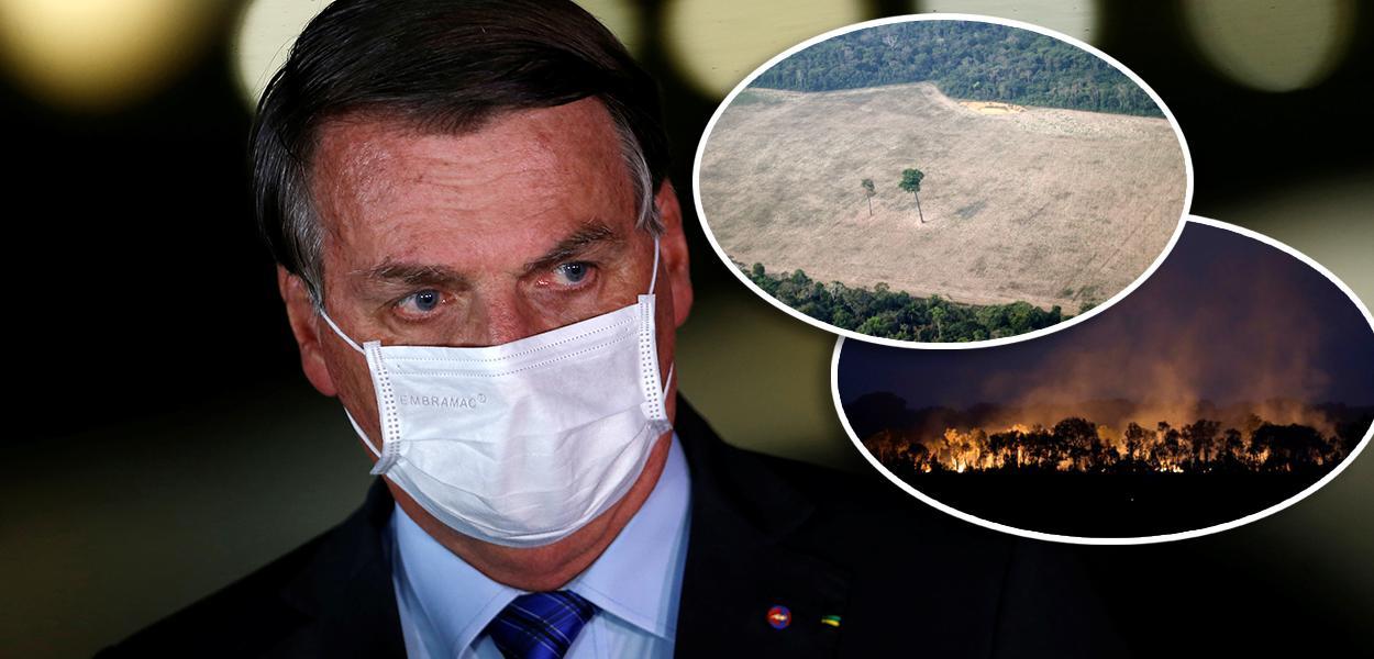 Jair Bolsonaro e queimadas na Amazônia