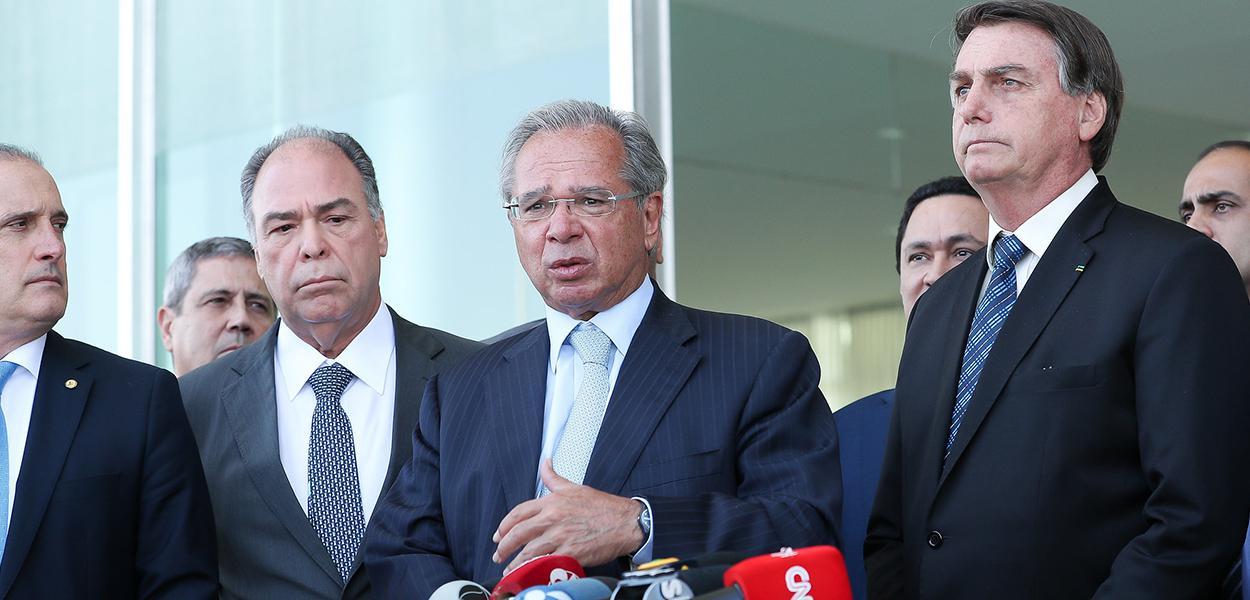 Paulo Guedes durante coletiva, após encontro com parlamentares 1 de setembro de 2020
