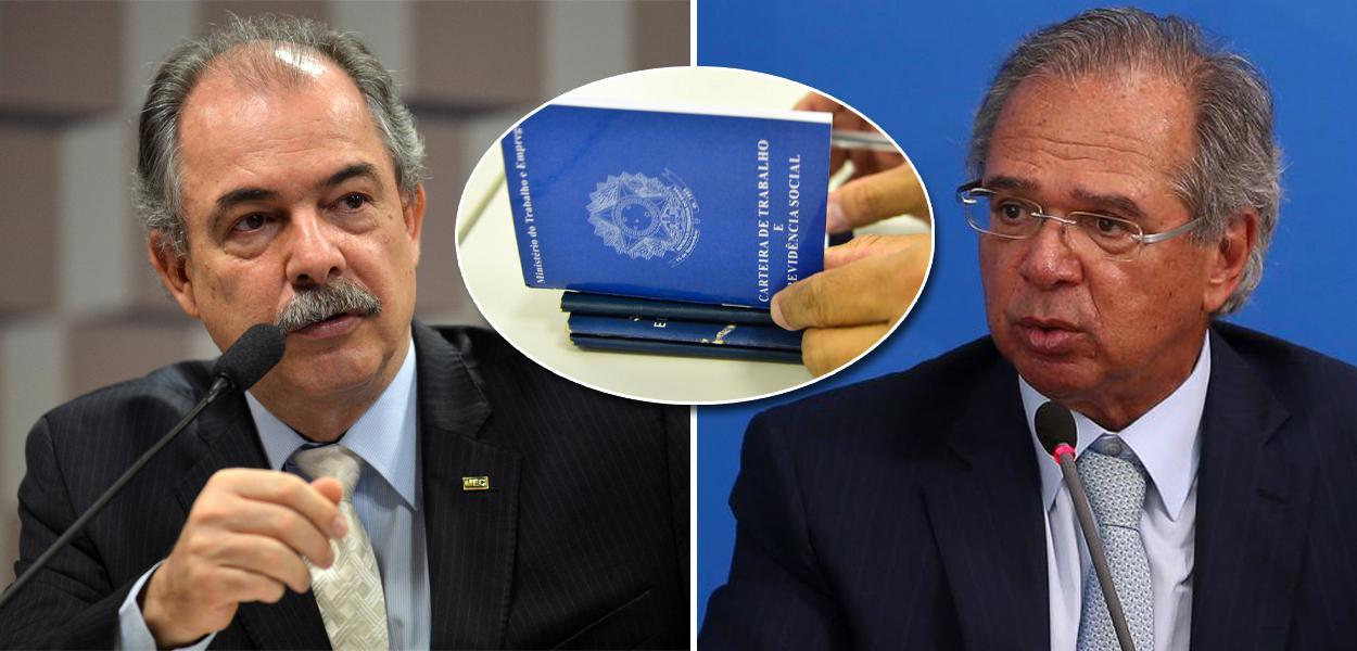 Aloizio Mercadante e Paulo Guedes