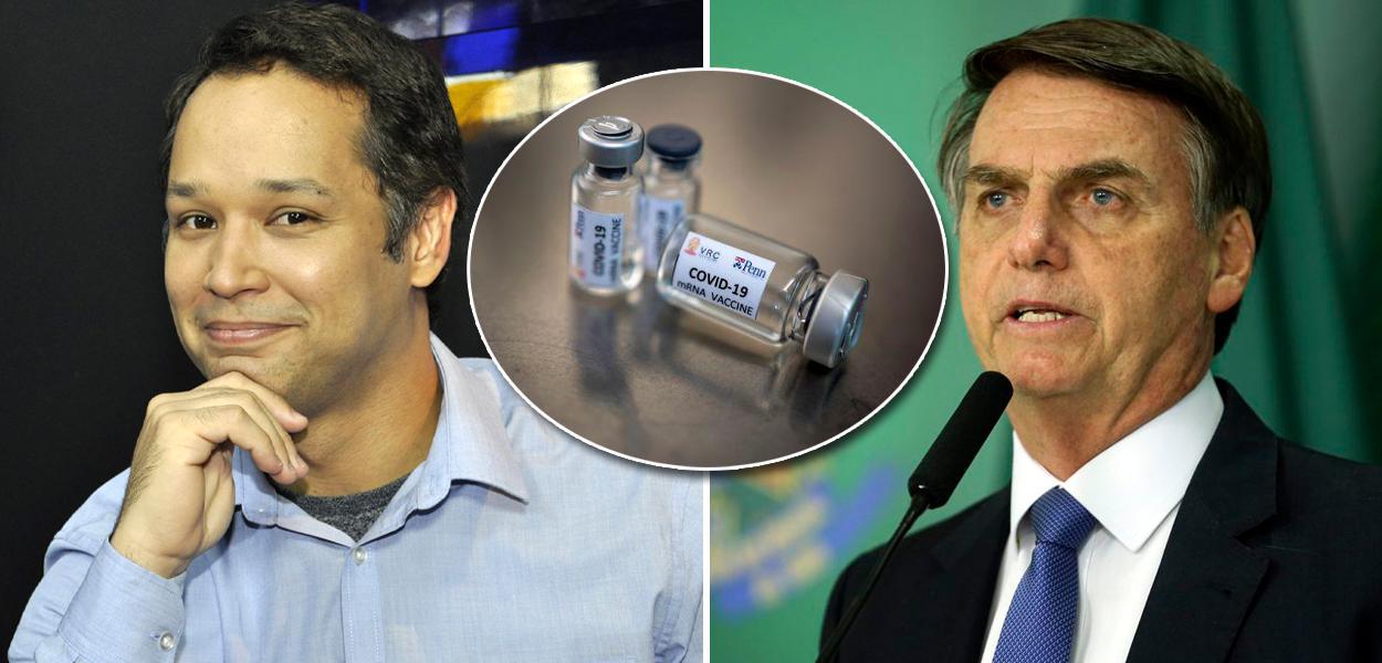 Leonardo Stoppa e Jair Bolsonaro