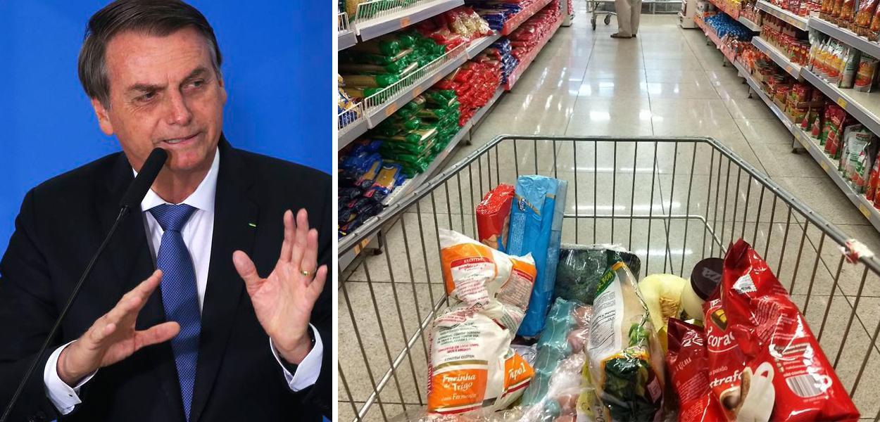 Jair Bolsonaro e cesta básica