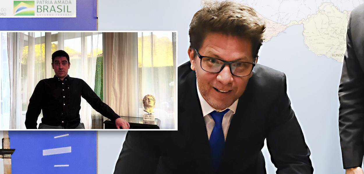 Marcelo Adnet imitando Mario Frias e Mario Frias