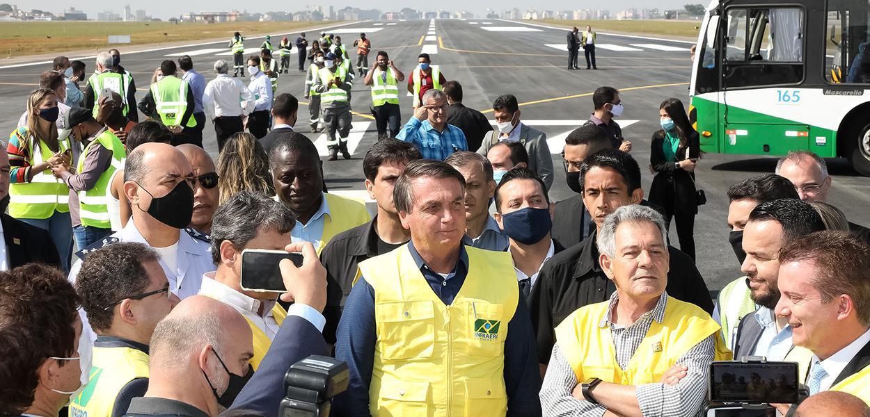 Bolsonaro visita obras no aeroporto de Congonhas (5/9/2020)