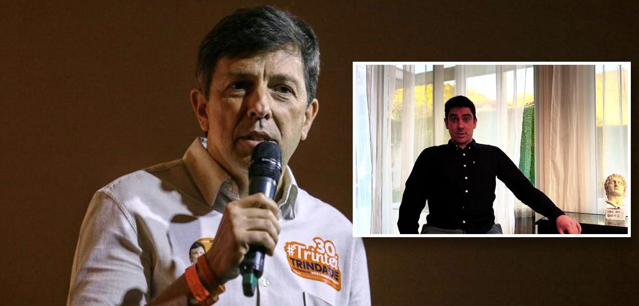 João Amoedo e Marcelo Adnet imitando Mario Frias