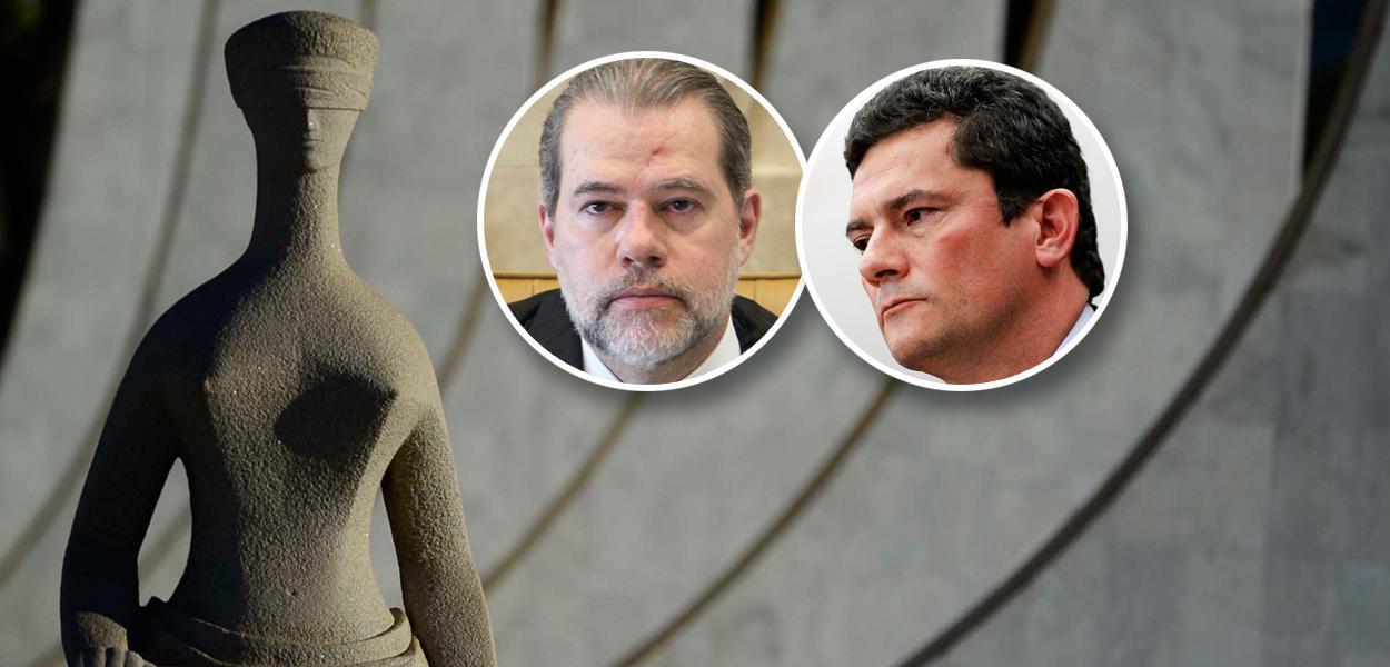 Fachada do STF, Ministro Dias Toffoli e Sérgio Moro