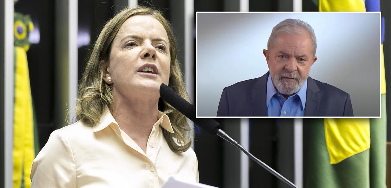 Gleisi Hoffmann e Lula